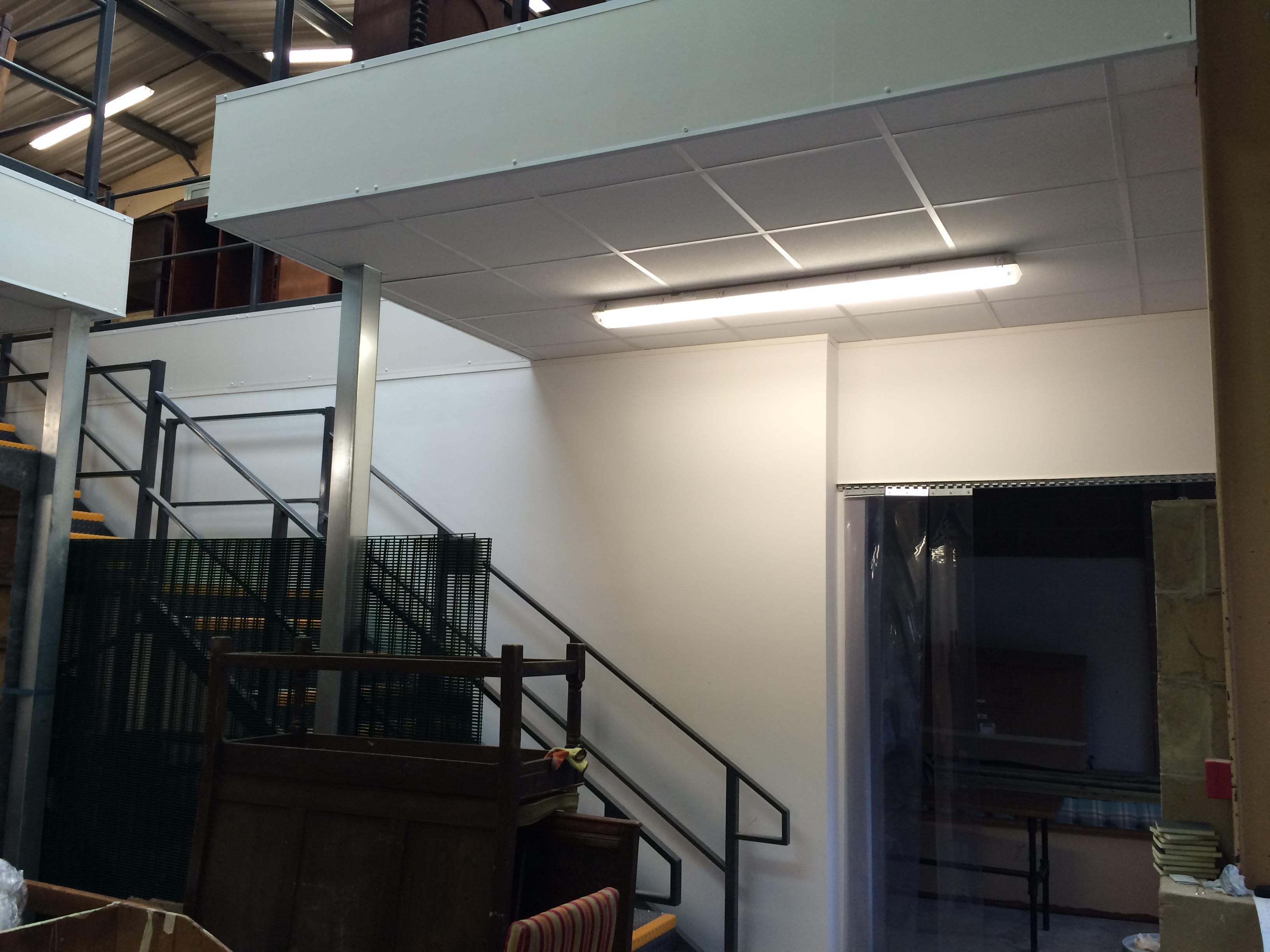 Inn Gear mezzanine floor construction