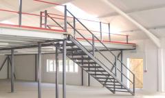 Mezzanine floor installations