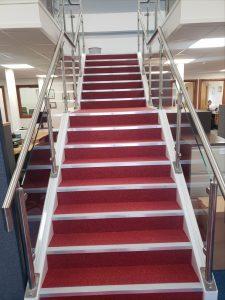 steps to mezzanine floor
